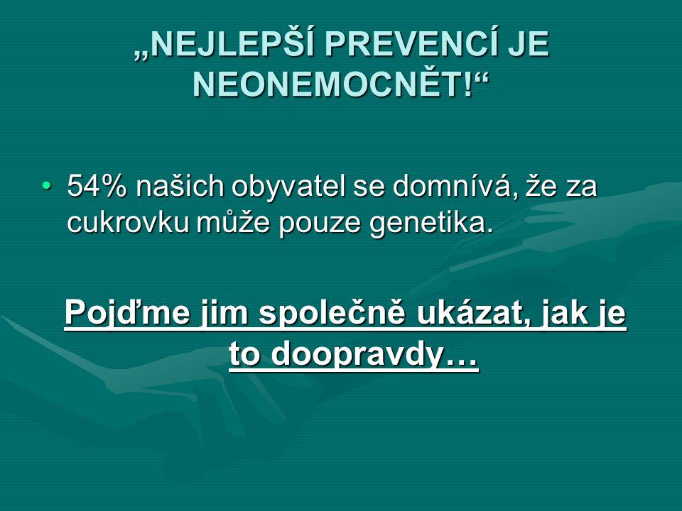 """""""NEJLEPŠÍ PREVENCÍ JE NEONEMOCNĚT!"""