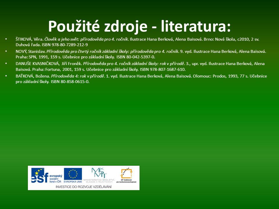 Použité zdroje - literatura: