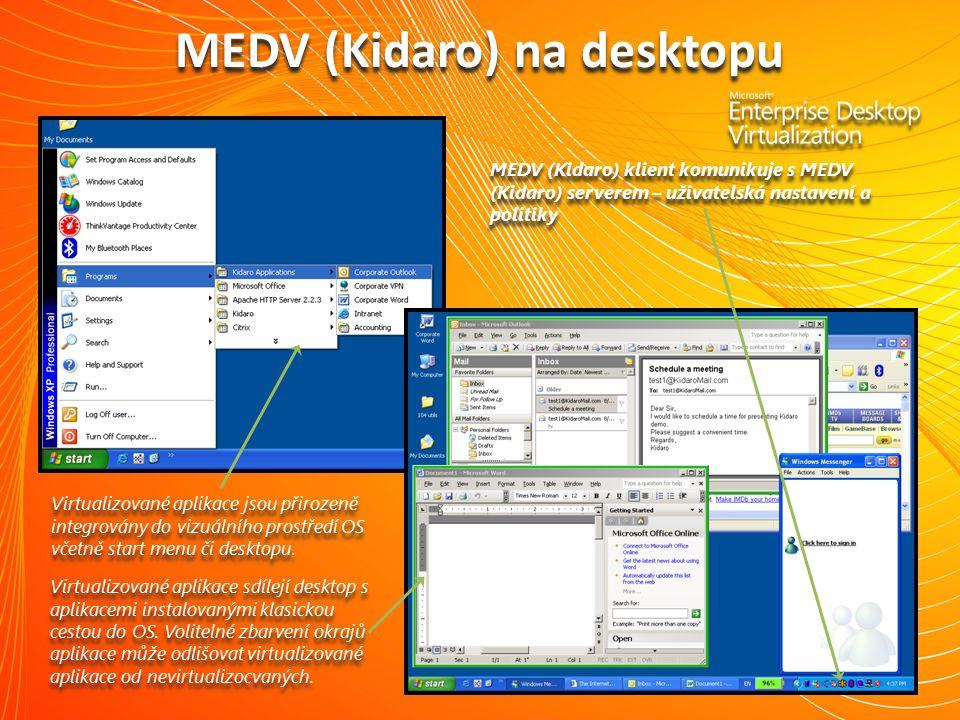 MEDV (Kidaro) na desktopu