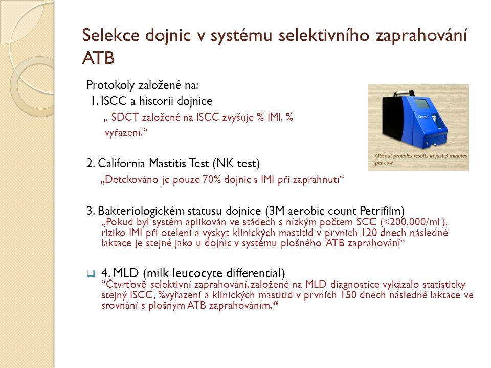 Selekce dojnic v systému selektivního zaprahování ATB