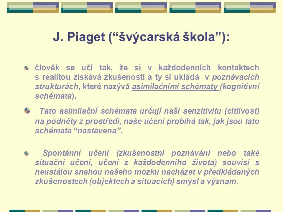 J. Piaget ( švýcarská škola ):