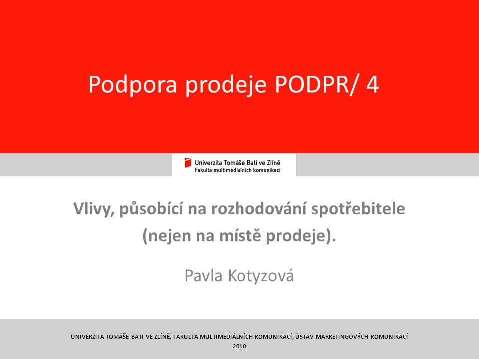 Podpora prodeje PODPR/ 4