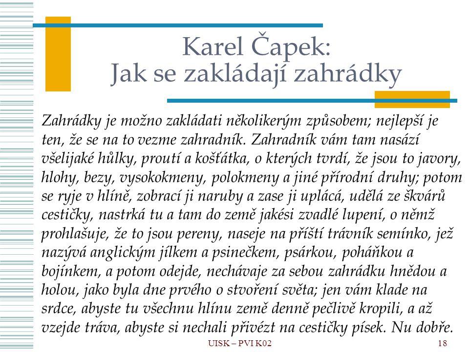 Karel Čapek: Jak se zakládají zahrádky