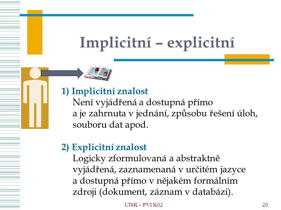 Implicitní – explicitní