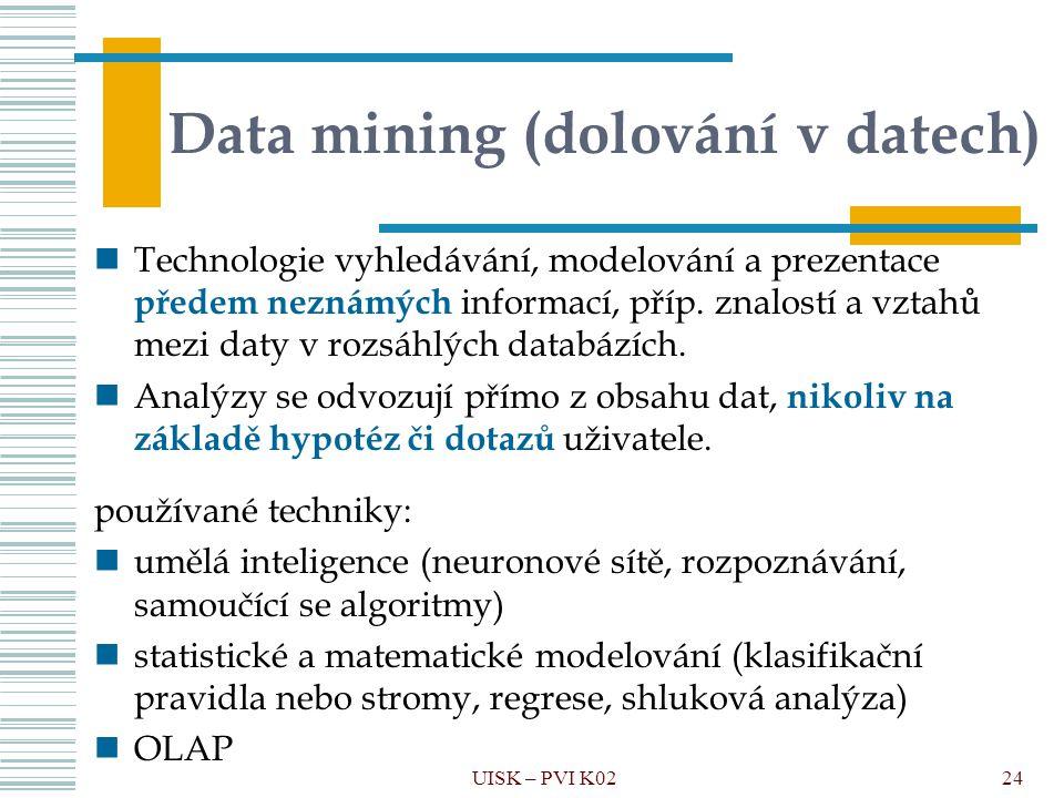 Data mining (dolování v datech)