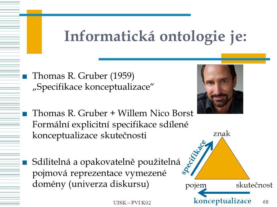 Informatická ontologie je: