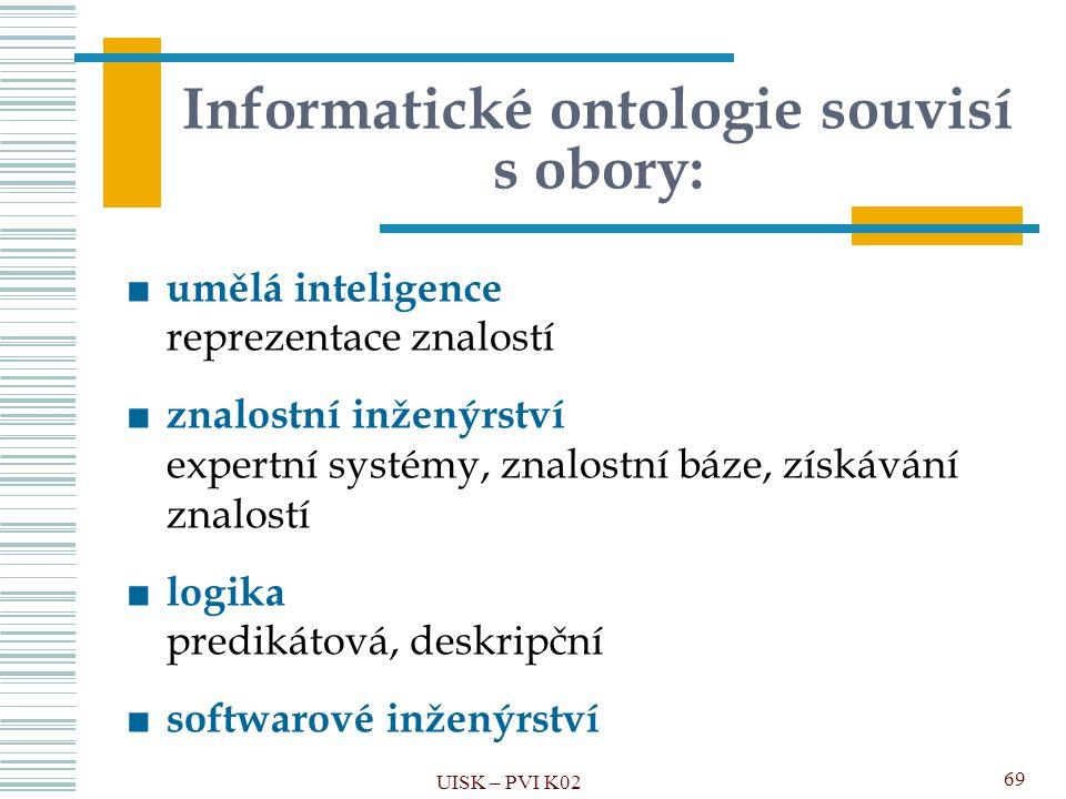 Informatické ontologie souvisí s obory: