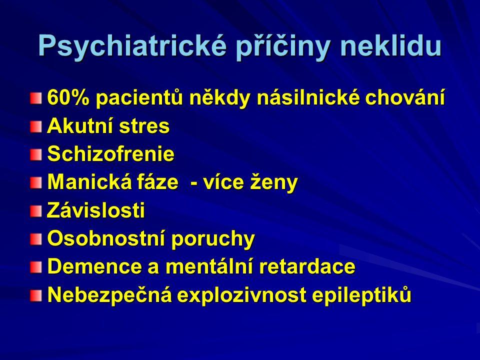 Psychiatrické příčiny neklidu