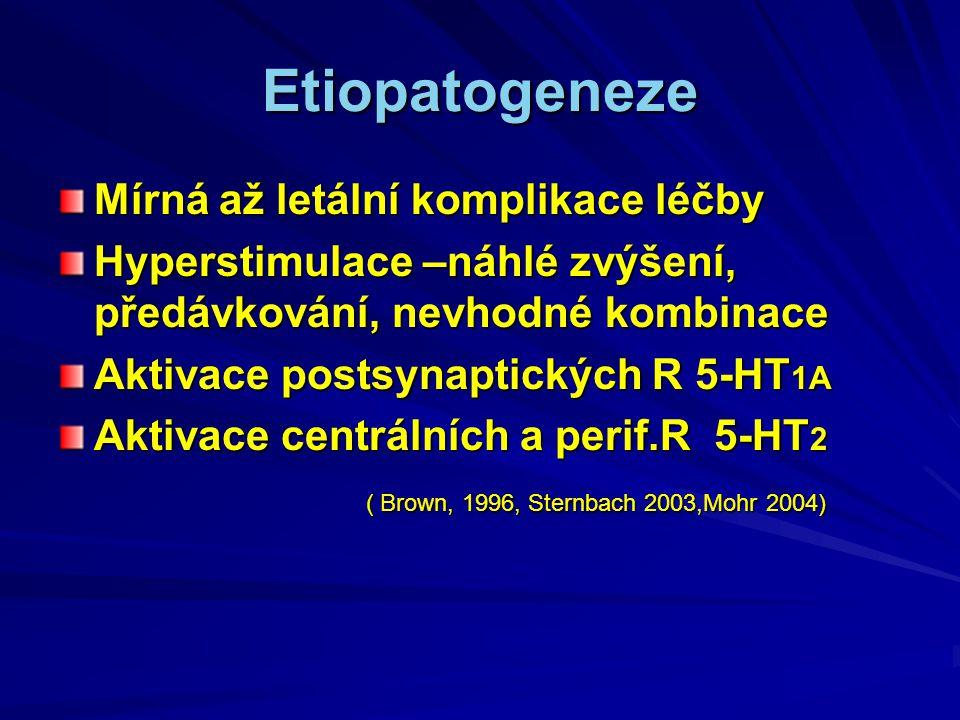 Etiopatogeneze Mírná až letální komplikace léčby