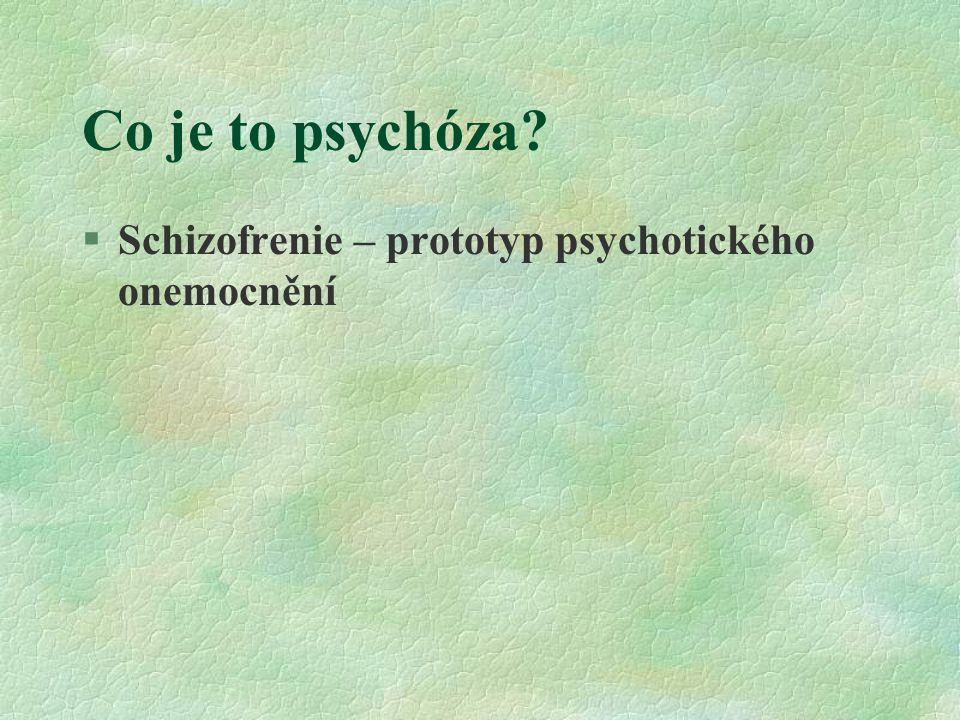 Co je to psychóza Schizofrenie – prototyp psychotického onemocnění