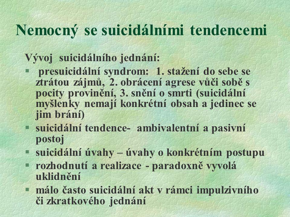 Nemocný se suicidálními tendencemi
