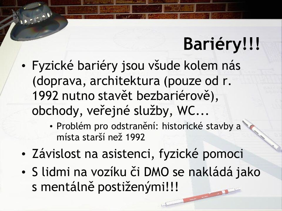 Bariéry!!!