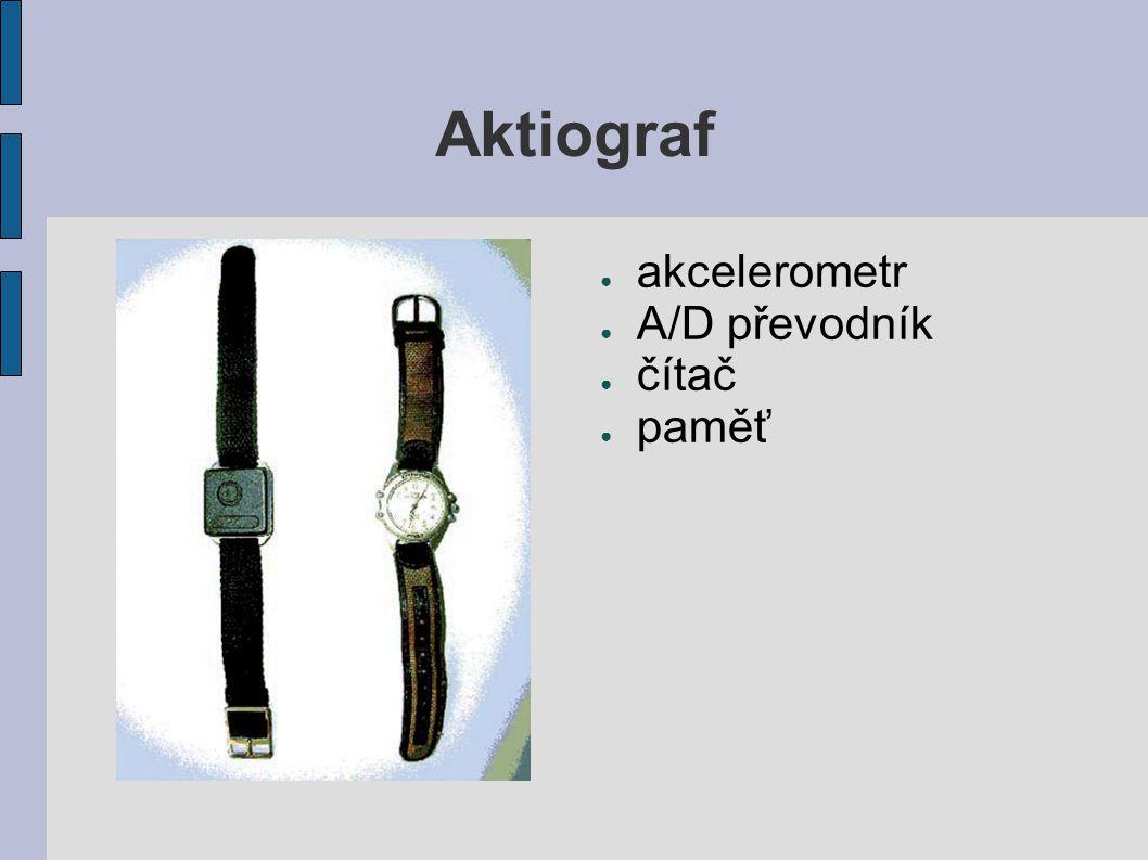 Aktiograf akcelerometr A/D převodník čítač paměť