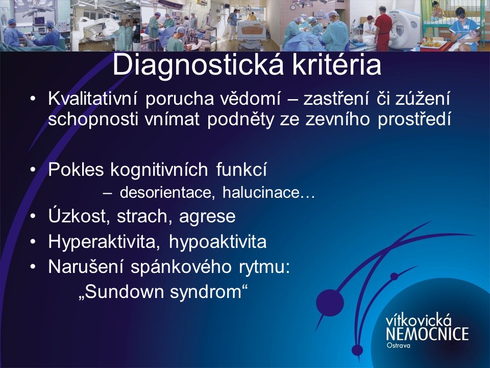 Diagnostická kritéria