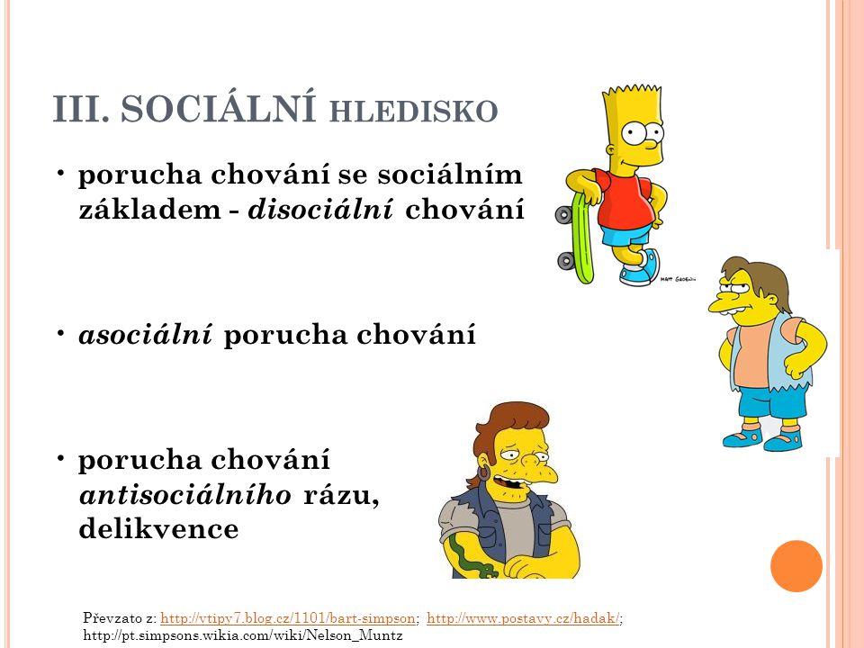 III. SOCIÁLNÍ hledisko