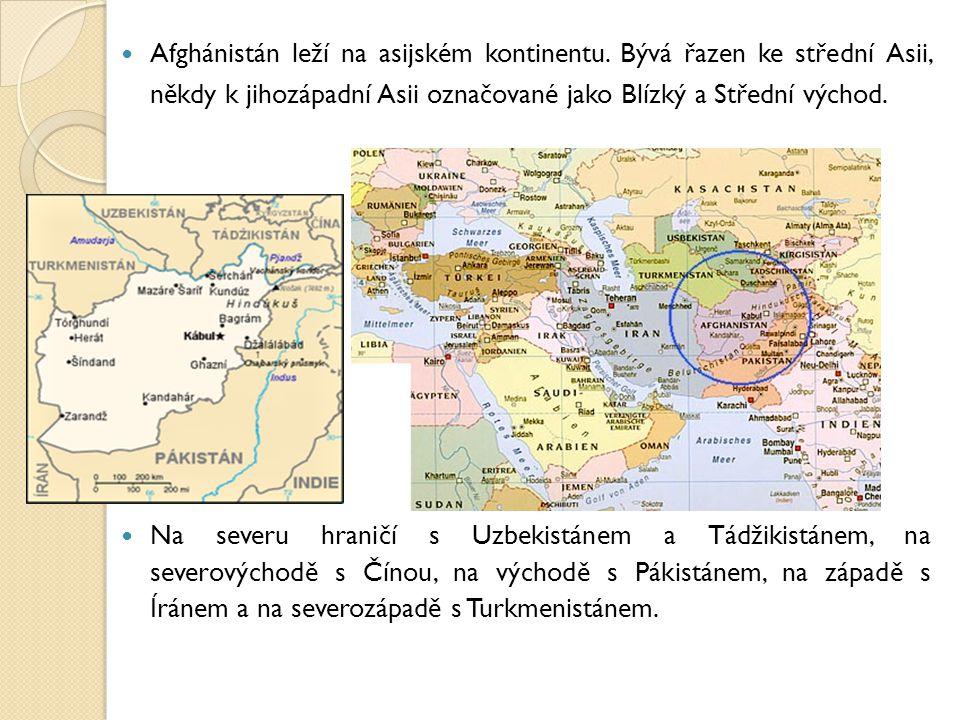Afghánistán leží na asijském kontinentu