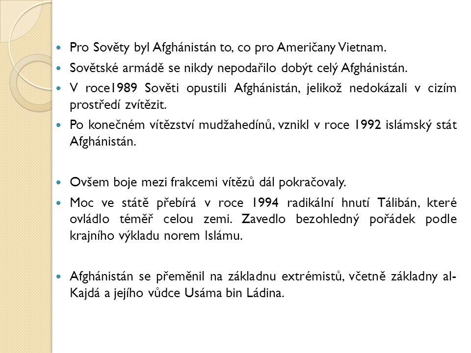 Pro Sověty byl Afghánistán to, co pro Američany Vietnam.