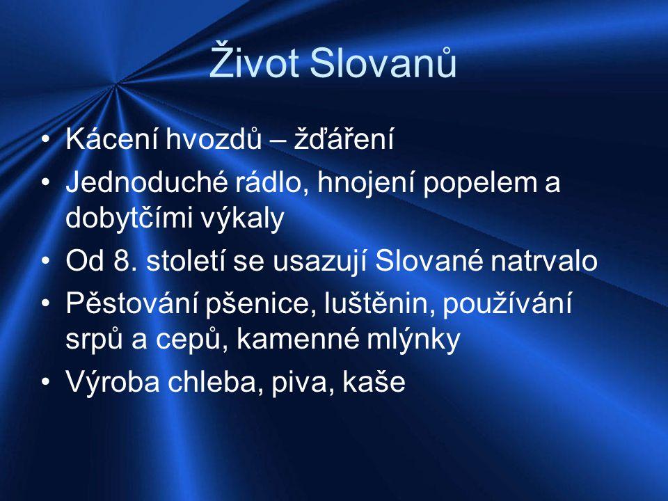 Život Slovanů Kácení hvozdů – žďáření