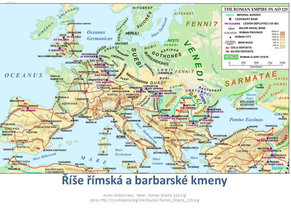 Říše římská a barbarské kmeny