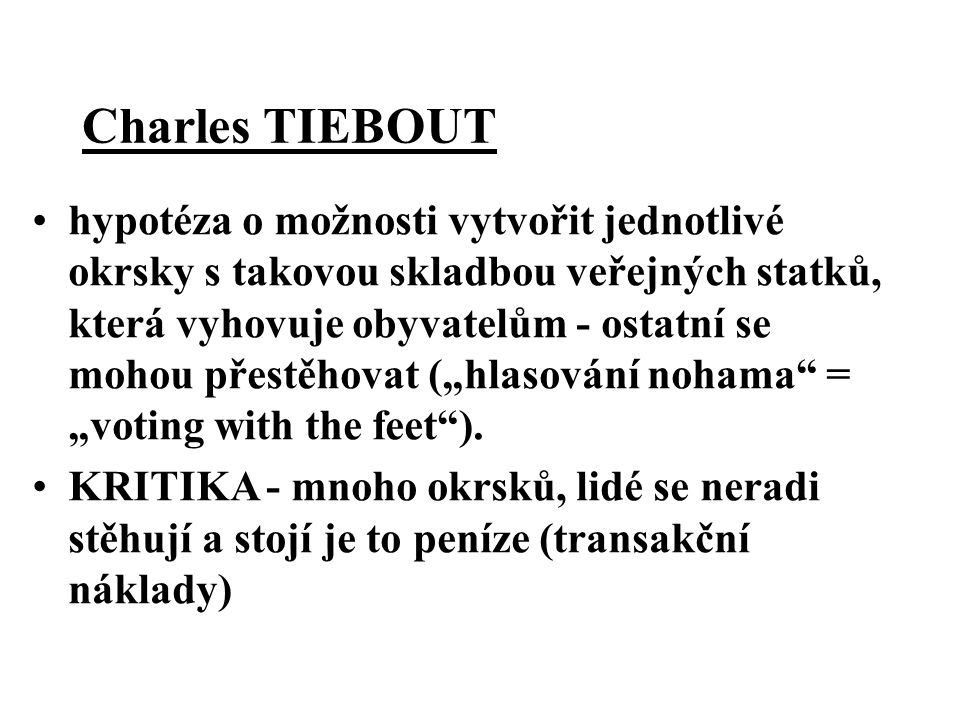 Charles TIEBOUT