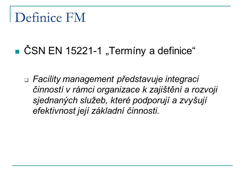 "Definice FM ČSN EN 15221-1 ""Termíny a definice"