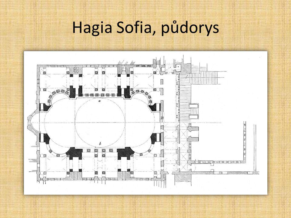Hagia Sofia, půdorys