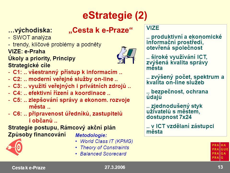 "eStrategie (2) ""Cesta k e-Praze …východiska: VIZE"