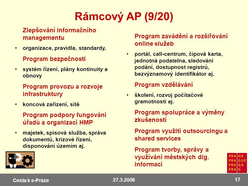 Rámcový AP (9/20) Zlepšování informačního managementu