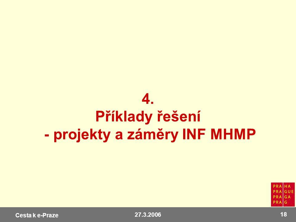 4. Příklady řešení - projekty a záměry INF MHMP