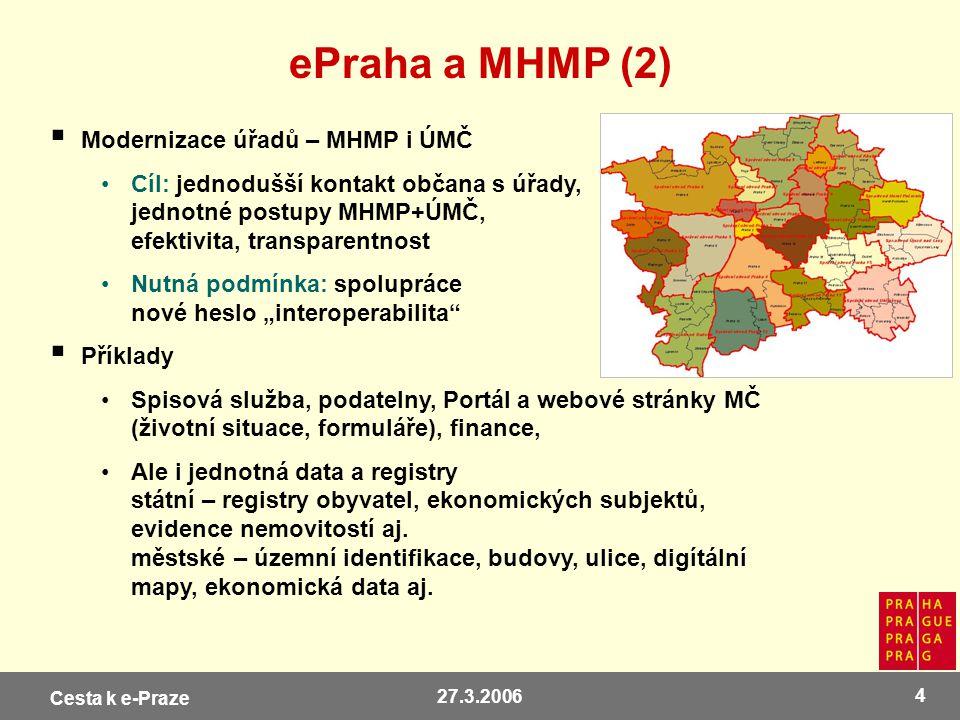 ePraha a MHMP (2) Modernizace úřadů – MHMP i ÚMČ