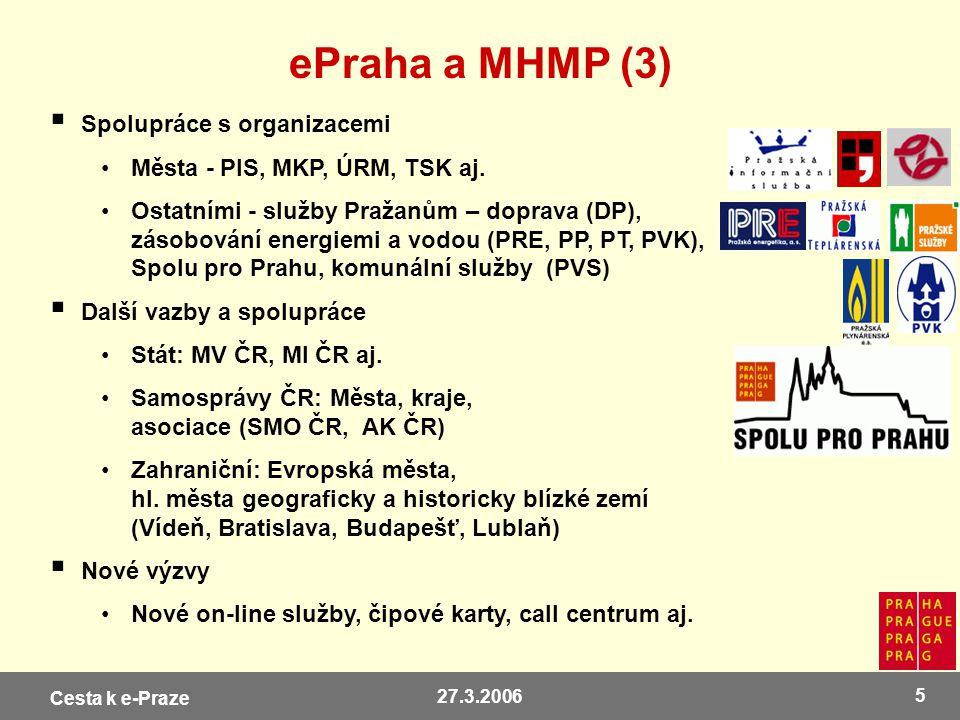 ePraha a MHMP (3) Spolupráce s organizacemi