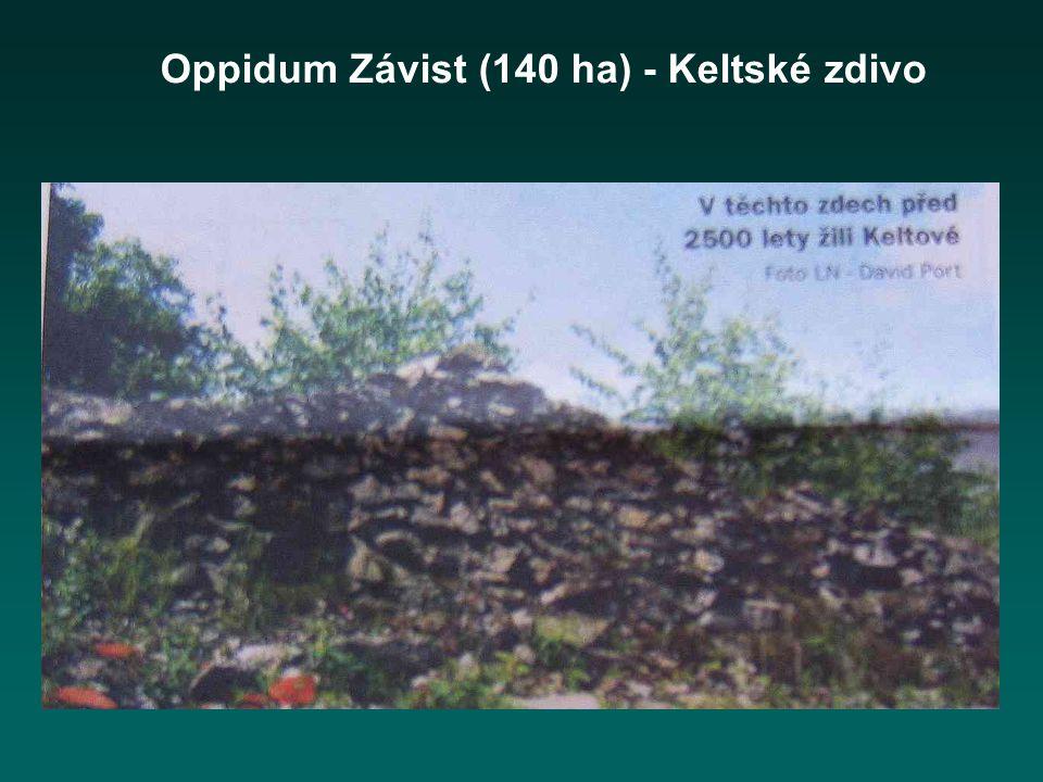 Oppidum Závist (140 ha) - Keltské zdivo