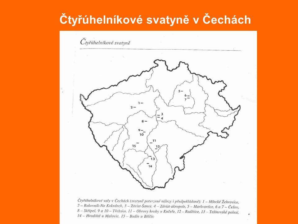 Čtyřúhelníkové svatyně v Čechách