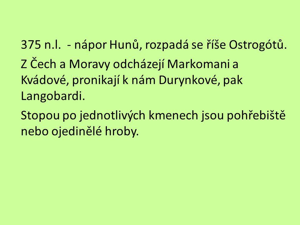 375 n. l. - nápor Hunů, rozpadá se říše Ostrogótů