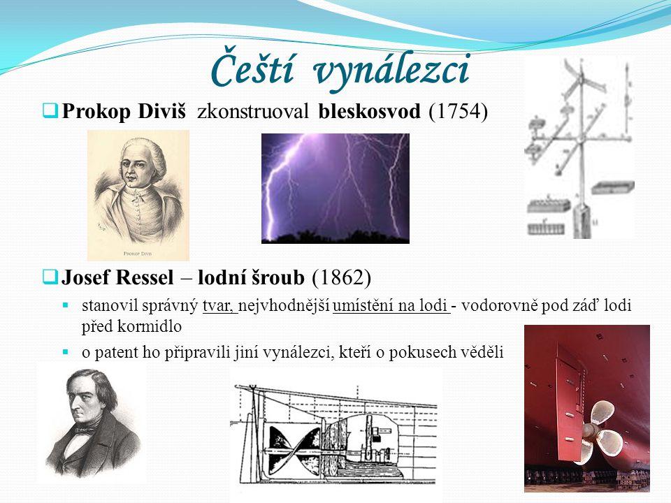 Čeští vynálezci Prokop Diviš zkonstruoval bleskosvod (1754)