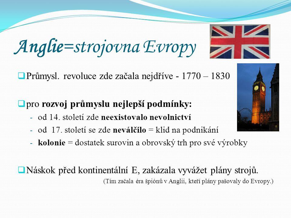 Anglie=strojovna Evropy