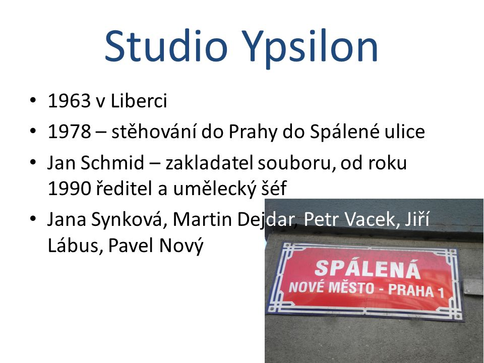 Studio Ypsilon 1963 v Liberci