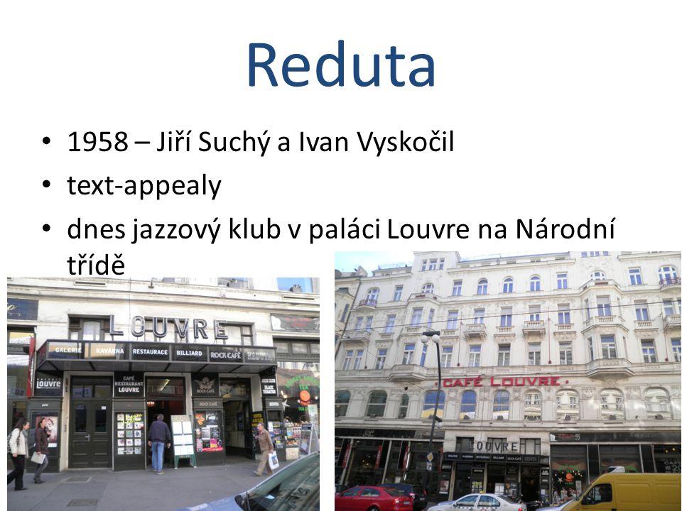 Reduta 1958 – Jiří Suchý a Ivan Vyskočil text-appealy