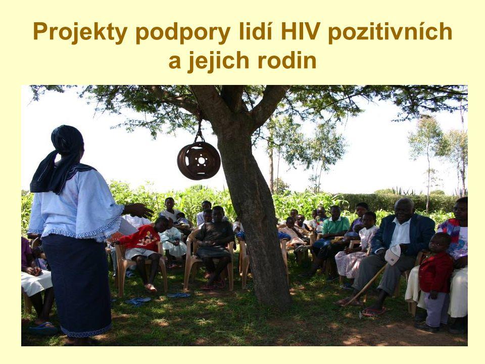 Projekty podpory lidí HIV pozitivních a jejich rodin