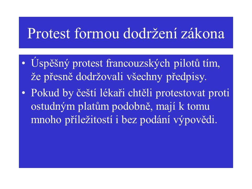 Protest formou dodržení zákona