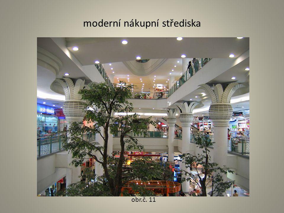 moderní nákupní střediska