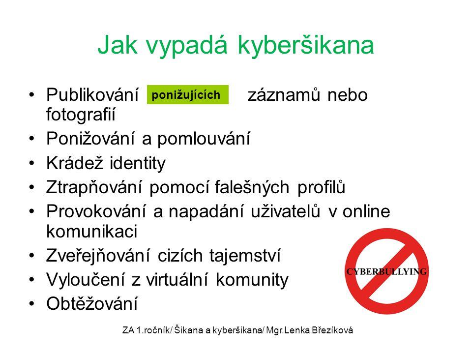 Jak vypadá kyberšikana