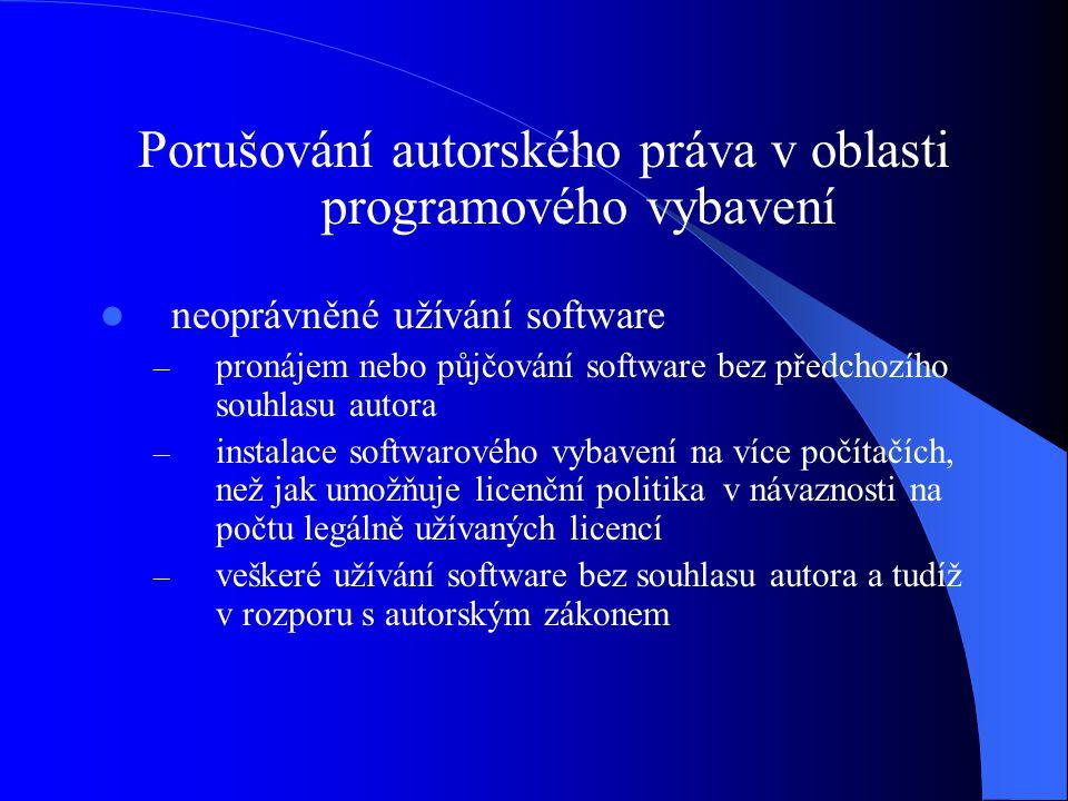 Porušování autorského práva v oblasti programového vybavení