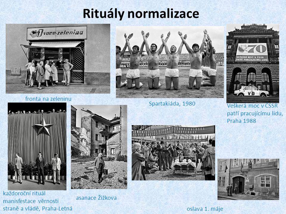 Rituály normalizace fronta na zeleninu Spartakiáda, 1980