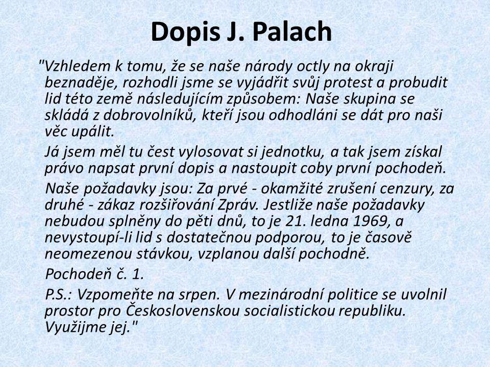Dopis J. Palach