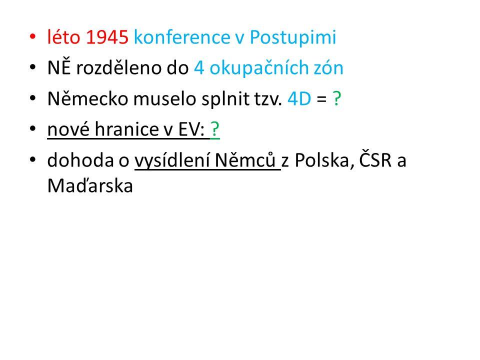 léto 1945 konference v Postupimi