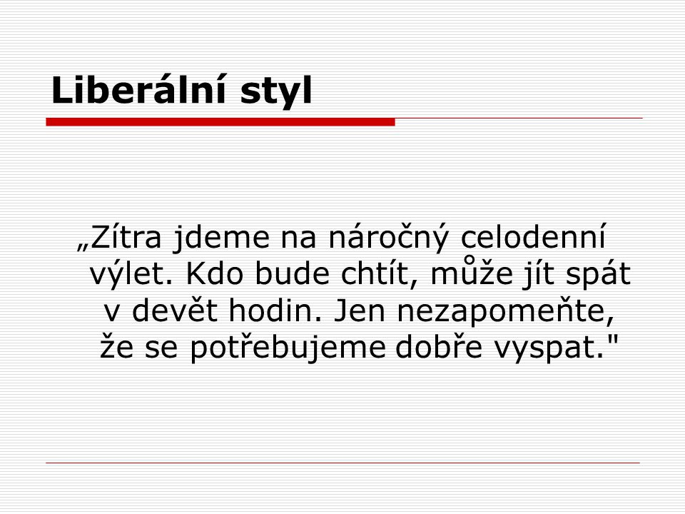 Liberální styl