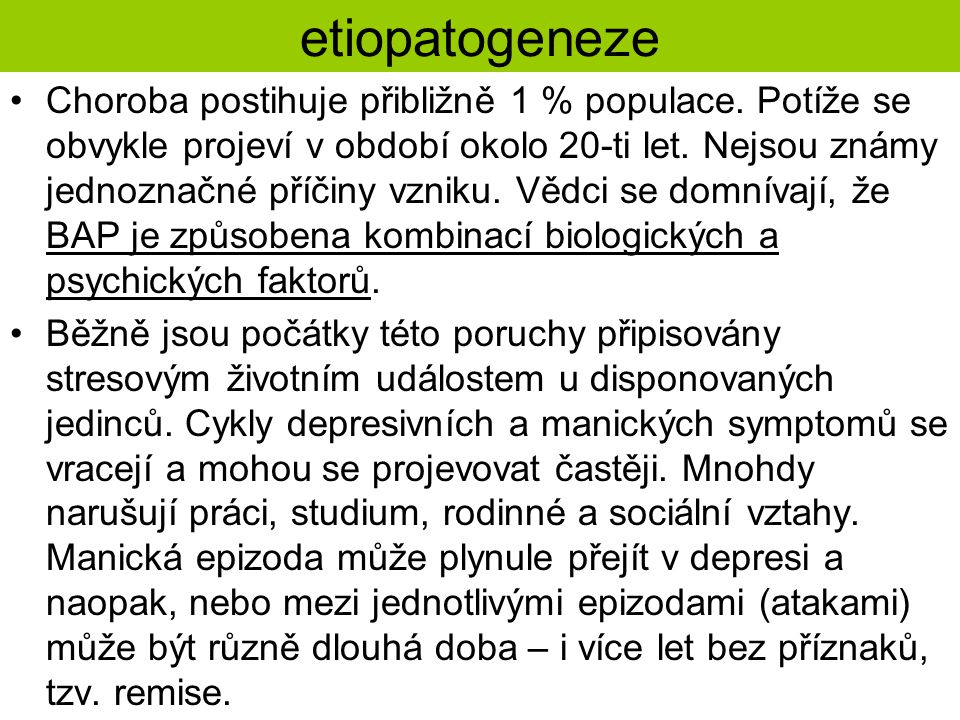 etiopatogeneze