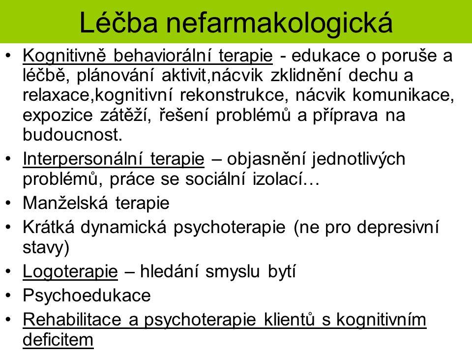 Léčba nefarmakologická