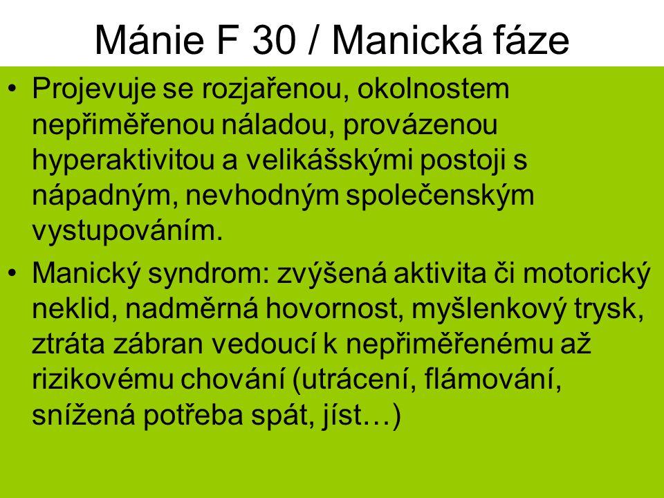 Mánie F 30 / Manická fáze